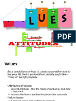 Values in Organization behavior