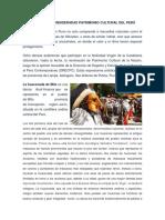 Danzas Consideradas Patrimonio Cultural Del Perú