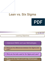 Lean vs Six Sigma