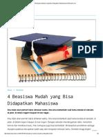4 Beasiswa Mudah Yang Bisa Didapatkan Mahasiswa _ Berkuliah