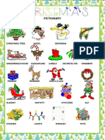 Christmas Pictionary Classroom Posters Picture Dictionaries 102759