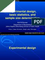 Biostatistics Experimental Design