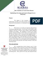Epidemiology Prevention and Control of Dengue Hemorragic Fever in Hongkong