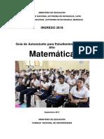 Unan Managua Guía Estudio Matemática 2018