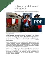 Programa Juntos Tendrá Menos Beneficiarios El 2016