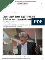 Desde París, piden explicaciones a Peñalosa sobre su cuestionado doctorado _ ELESPECTADOR