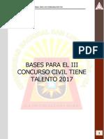 Bases Para El Concurso Civil Tiene Talento