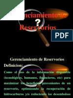 Gerenciamiento de Reservorios Pet.