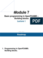 Basic programming in OpenFOAM