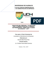 """Selección del Personal y su Relación con la Competitividad de la empresa de transportes """"Joram"""" Huánuco - 2017"""