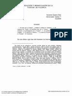 """La redacción y promulgación de la """"COSTUM"""" de Valencia"""