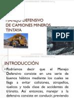 Curso Manejo Defensivo Camiones Minerios Mina Tintaya