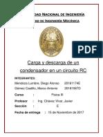 CARATULA DE INFORME FISICA 3 CARGA Y DESCARGA DE CONDENSADOR.docx