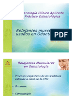 Relajantes Musculares Usados en Odontologia