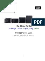 Blade Center Interoperability Guide 2009 Week 40 September 29