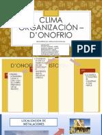 Clima Organización – d'Onofrio