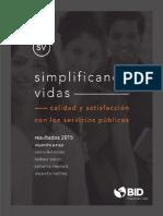 Simplificando Vidas Calidad y Satisfaccion Con Los Servicios Publicos