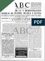Diario ABC de Madrid, España 02-05-1962 Un Demente Mata a Su Esposa y a Sus Cinco Hijos y Luego Se Suicida (1).