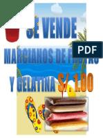 Se Vende Marcianos de Frutas y Gelatina