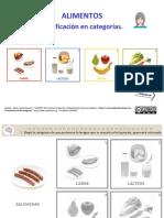 Clasificación de Alimentos en Cuatro Categorías