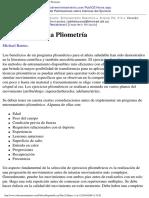 Version Imprimible Del Articulo Introduccion a La Pliometria