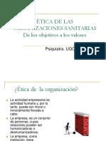 Valme Etica de Las Organizaciones Sanitarias