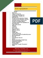 Marine Technic Test Equipment