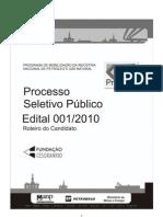 Edital 01-2010 - Prominp 5o Ciclo FINAL