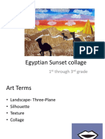 egyptian sunset collage