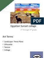 egyptian sunset collage