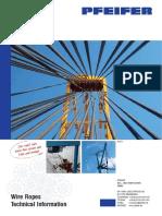 Pfeifer Wire Ropes Technical Information Brochure En