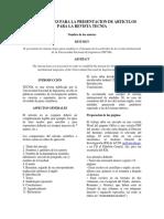Instrucciones Para Realizar Un Artículo TECNIA-IGI