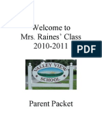 Parent Orientation Packet