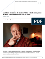 """Expresso _ António Coimbra de Matos_ """"Não é Fácil Amar, Mas é Bom"""