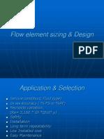 Flow element sizing & Design(DNARAYAN).ppt