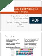Cognitive Radio Based Wireless Ad Hoc Networks