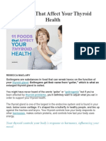 11 Foods That Affect Your Thyroid Health