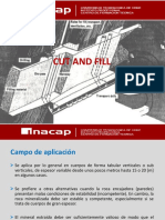 Metodos de Explotación - Cut and Fill