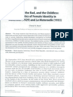 KOOS Cheryl - The Good, the Bad, and the Childless- The Politics of Female Identity in Maternité 1929 and la Maternelle 1933
