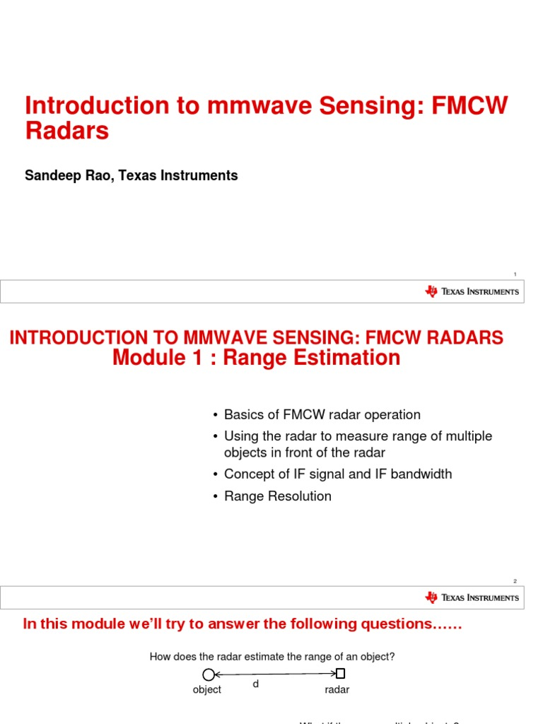 MmwaveSensing FMCW Offlineviewing 0 | Analog To Digital Converter