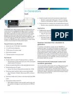 AWG5200 Series Arbitrary Waveform Generator Datasheet 76W608484