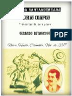 GUABINA SANTANDEREANA. Lelio Olarte. Transc. para piano Gerardo Betancourt.
