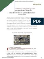 El Proyecto Militar de Estados Unidos Para El Mundo, Por Thierry Meyssan