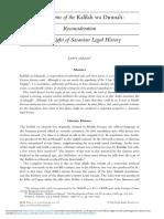 Origins of the Kalilah Wa Dimnah Reconsideration in the Light of Sasanian Legal History