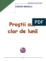 Teodor Mazilu Prostii Sub Clar de Luna PDF