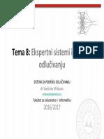 SPO 08 Ekspertni Sistemi i Podrska Odlucivanju