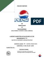 internship report of pepsico