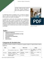 Desinfección - Wikipedia, La Enciclopedia Libre
