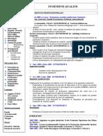 Cadresonline - CV Ingenieur Qualite