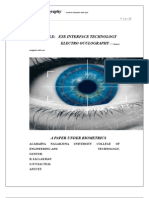 Biometrics-- Eye Interface Technology